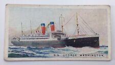 Merchant Ships World SS George Washington Vessel Imperial Tobacco Card 37 F159