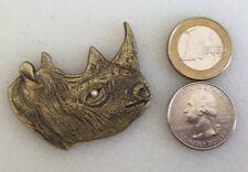 ☆☆ Rhinoceros Geocoin Rhino Antique Bronze 3D Jewel Unactivated Trackable