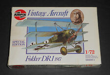 Airfix Vintage Aircraft Model (Fokker DR1 1917) 1:72 Scale (New in Box) 1988