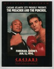 1990 George Foreman v Gerry Cooney Program 1/15 Caesers Atlantic City NMT