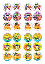 24 Equipo Umizoomi Cumpleaños Glaseado Comestible Hadas/Cup Cake/bollos Toppers