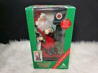 Holiday Creations Musical Holiday Scene - Santa at Grandfather Clock