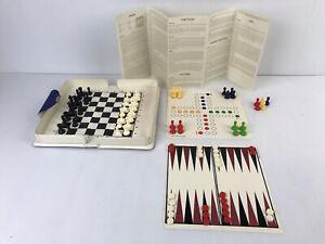 Vintage Magnetic Chess Set & Backgammon Etc