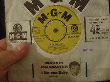 Marvin Rainwater 45rpm  I Dig Yo Baby-Two Fools In Love uk MGM Record in Mint