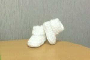 HANDMADE CROCHET BABY FIRS SHOES,BOOTIES WOOL CASUAL BOOTS SLIPPERS UNISEX