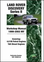 Shop Manual Service Repair Book Workshop Guide Discovery II Land Rover 1999 2003