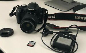 Canon EOS 500D (Rebel T1i) with 18-55mm lens + 16GB SD Card + Charger