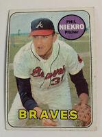 1969 Phil Niekro # 355 Atlanta Braves Topps Baseball Card HOF