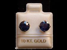 Exclusive Saphir Ohrstecker - 7 mm - 10 Kt. Gold 417 - Ohrringe Brillant Schliff