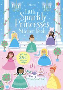 Usborne Little Sparkly Princesses Sticker Book (Paperback) FREE ship $35