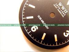 NOS Matte Black Submariner Militaire Cadran pour DG2813 mouvement mécanique 0594UK