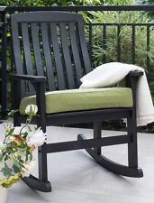 Porch Rocking Chair Dark Brown Outdoor Patio Furniture Deck Seat Rocker