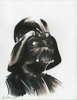 DARTH VADER Ink sketch portrait drawing Star Wars force Jedi empire knight space