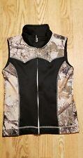 Roper Juniors Girls Vest Large 10-12 Polyester Western Black Zip Up CUTE