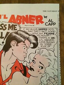 Vintage 40s Lil Abner Comic KISS ME Al Capp Cream of Wheat Ad From Sat Eve Post
