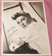JULIE LONDON Autographed 8x10 Picture From The 1950s