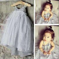 Toddler Kids Baby Girls Summer Dress Princess Party Holiday Tulle Tutu Dresses