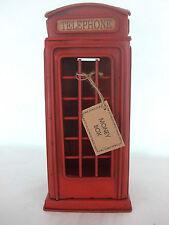 Telephone Money Box / Tin Plate Model /Ornament /Gift/ Red