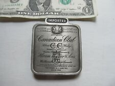 Extremely Nice CANADIAN CLUB LABEL Belt Plate, Buckle, Whiskey, Advertising Gift