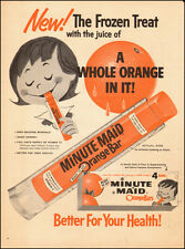 1950's Vintage Ad for Minute Maid Orange Bar`Art Cartoons Orange (122314)