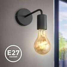 Vintage Wandlampe Retro Wandspot schwarz matt Flur Leuchte Wohnzimmer Edison E27