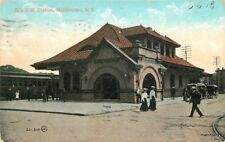 1908 Railroad Depot Erie Railroad Station Middletown New York Valentine 8730