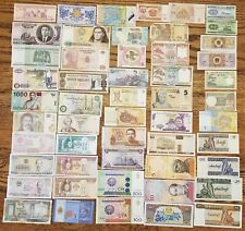 53 Pcs of Different World Currency Foreign Banknotes Lot Uncirculated With BONUS