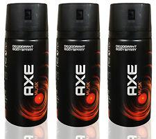 3 x Axe Musk Deodorant Body Spray NEW DESIGIN 150ml 5.07oz / Each (Pack of 3)