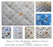 Custom Made Upholstered Padded fabric Pin/memo/notice/photo cork board *4 SIZES*