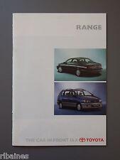 R&L Sales Brochure: Toyota Range UK 1996 Landcruiser/Previa/Rav4/MR2