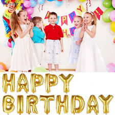 13pcs/lot 16inch Gold Happy Birthday Letter Shaped Ballons Foil Balloons