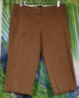 THE LIMITED Brown Cassidy Fit Capri Pants 8 Stretch Cotton Four Pockets Unlined