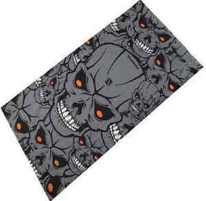 Gray Skulls Face Shield Hood Bandana Neck Scarf Headwear Tube Mask Fishing