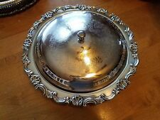 antique relish tray with lid, silverplate with glass relish dish insert