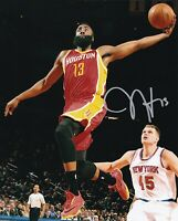 JAMES HARDEN SIGNED  AUTOGRAPH 8X10 PHOTO HOUSTON ROCKETS