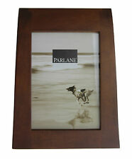 "Parlane 7x5"" Sleigh Walnut Wood Picture Photo Gift Frame - 630718"