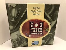 Unopened Mahogany Golf Ball Cabinet with Clock Display 19 Golf Balls
