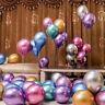"100 PCS 12"" Metallic Pearl Chrome Latex Balloons for Wedding Birthday Party UK"