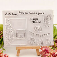 Christmas tree Xmas Gift bags Stamps Clear DIY Craft Photo Album Decorative_ti