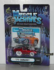 Muscle Machines 1971 Chevrolet Camaro 71 Chevy White Tire #04-57 1:64