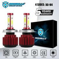 4SIDE H4 9003 LED Headlight Conversion Kit Bulbs 2500W 375000LM Hi-Lo Beam 6000K