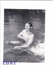 Martin Milner barechested bath Vintage Photo Laredo