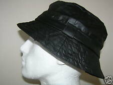Wax Cotton Bucket Hat  Black Size 58cm MED NEW see all wax cap & hats