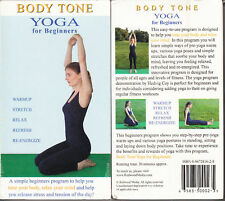 NEW YOGA FOR BEGINNERS VHS VIDEO! RELAX YOUR MIND! RELEASE TENSION! BODY TONE!
