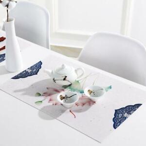 Placemat Rectangular Dish Pad Dining Table Non-Slip Bowl Place Mat Teapot C