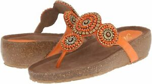 Spring Step Azura Women's Lori Thong Sandals, Orange ( EU 37 / US 6.5 - 7 )