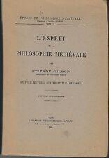 L'esprit de la philosophie médiévale Etienne Gilson 1944