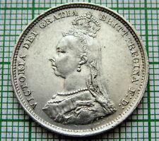 GREAT BRITAIN QUEEN VICTORIA 1887 JUBILEE SHILLING, SILVER HIGH GRADE