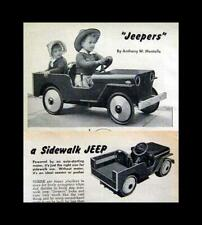 Wwii Sidewalk Car Jeep Jeepers How-To build Plans 1948 battery powered