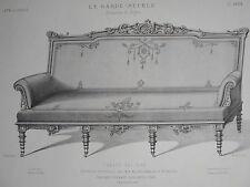 Canapé Néo - GREC EXPO UNIVERSELLE 1887 GRAVURE le GARDE-MEUBLE DESTOUCHES 19éme